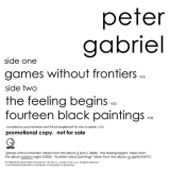 Peter Gabriel Games Without Frontiers