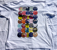 '78s Labels' Multi-coloured on white
